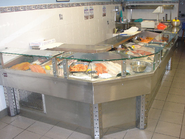 AllBrite Stainless Steel Fish & Meat Display's