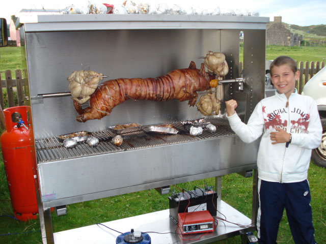 AllBrite Stainless Steel bbq for a PIG